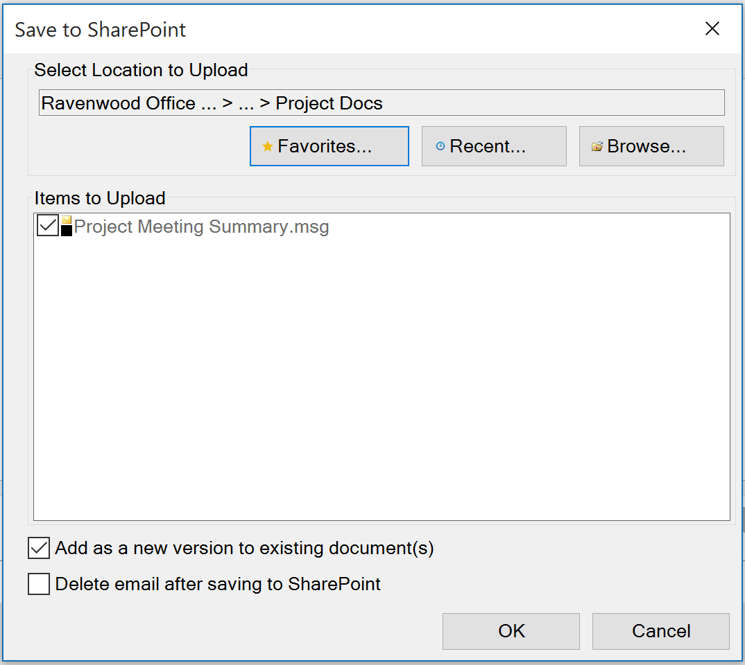 harmon.ie - Managing Emails on SharePoint