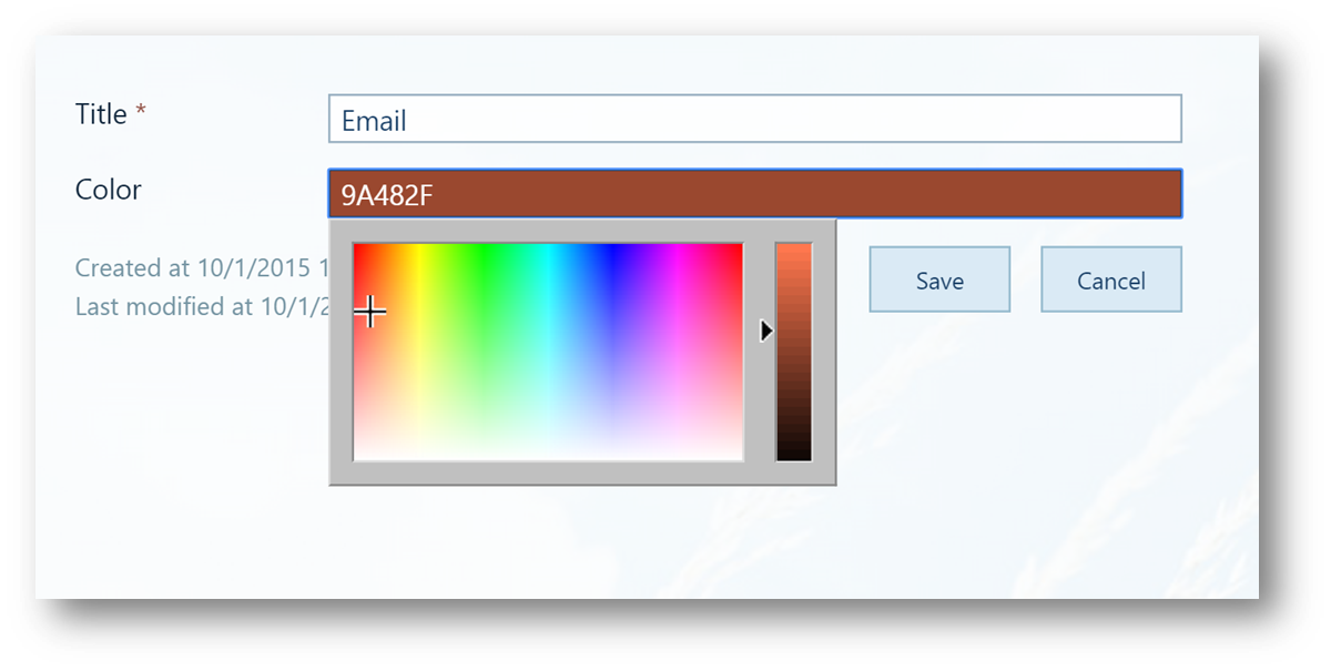 Add a color picker to your SharePoint list using JSLink
